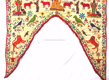 Handmade India Vintage Kutch Toran Valance Banjara Ganesha Tapestry Toran Window Valance Topper Toran door hanging wholesale art