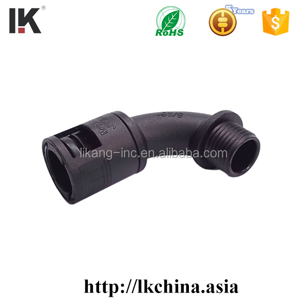 Plastic wall mount bracket for corrugated pipes