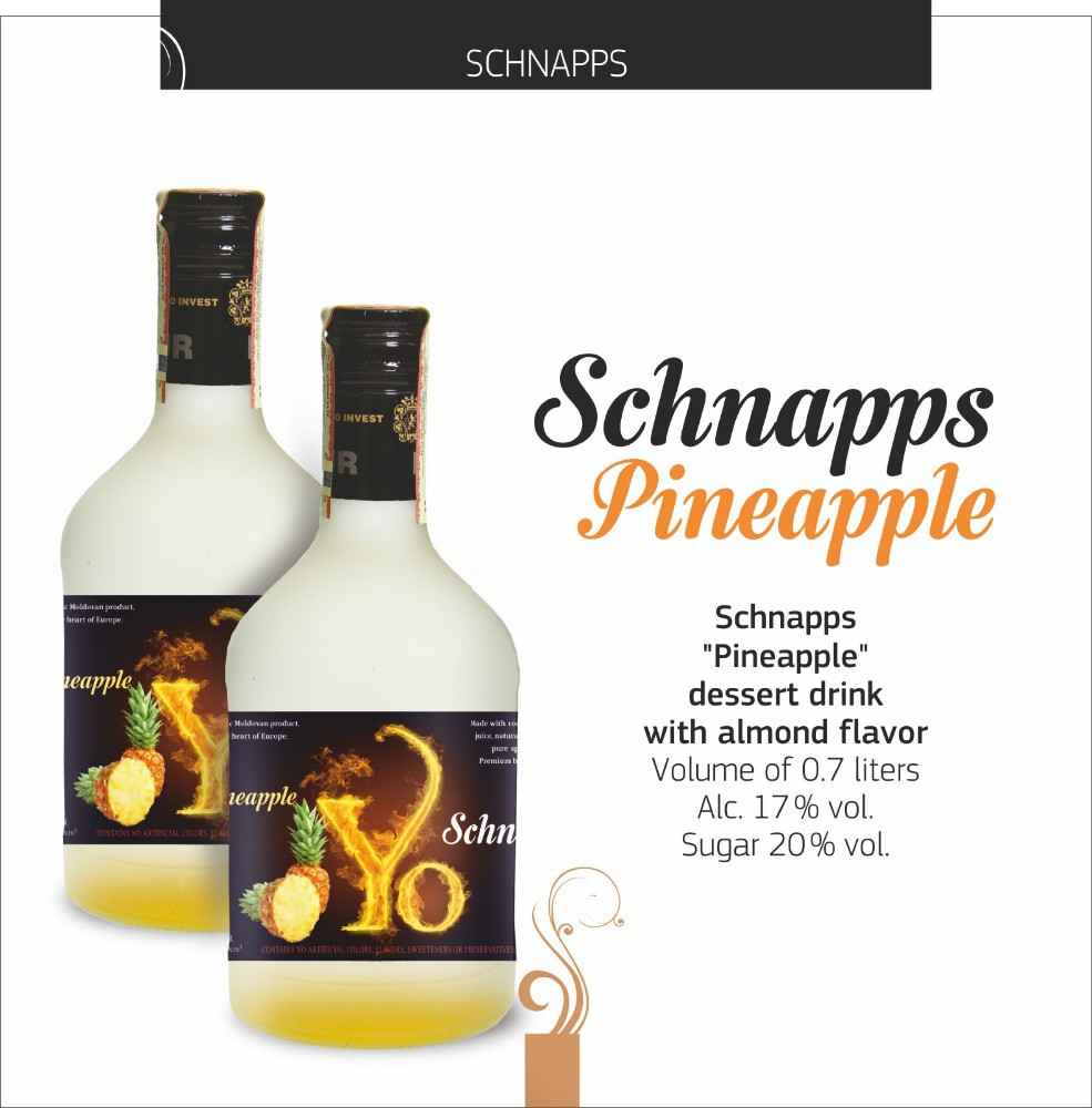 Sweet Natural, Schnapps Pineapple, Yo Liqueur brand