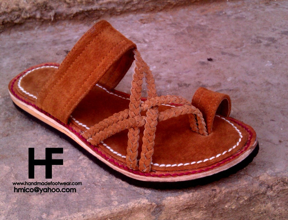 Women suede Leather Sandals 2015 , kolhapuri style , handmade shoes . leather shoes . women shoes . women sandals .handstitched