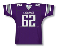 Polyester Spandex custom Sublimated Cyclones American Football Jersey/Shirt