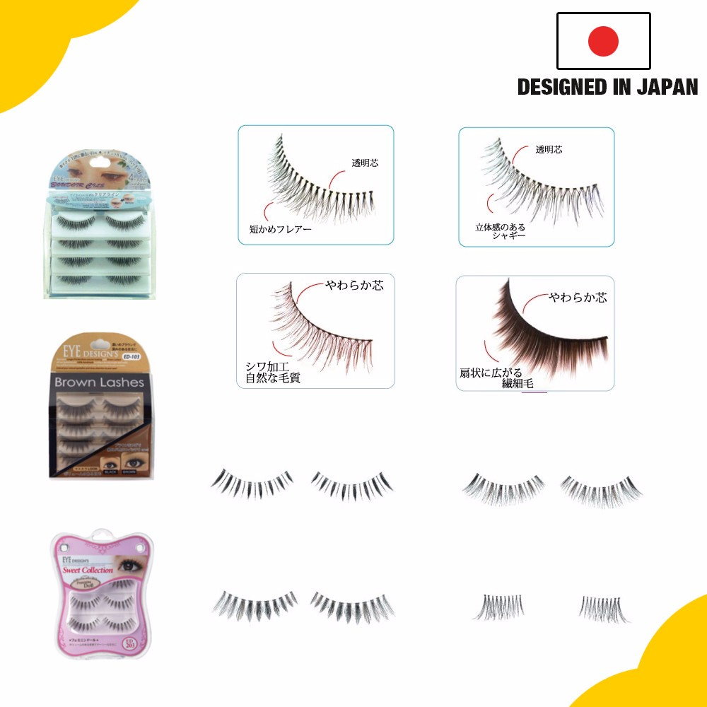 Simple to use, durable fake eyelashes for a natural appearance for any eye size & shape, OEM available