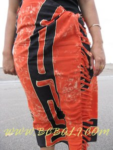 Rayon Batik Sarongs Hand Painting Beachwear Pareo Bali