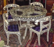 Royal Mother of Pearl inlay Round dining table