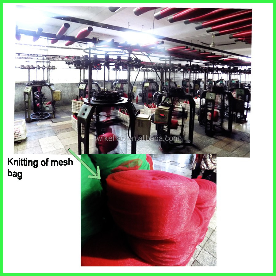 hot sale 5kg 10kg small size pe fruit mesh net bag for packing onion potatoes