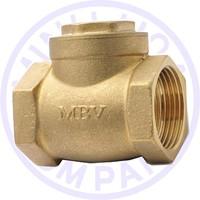 MBV Brand brass swing check valve 1/2