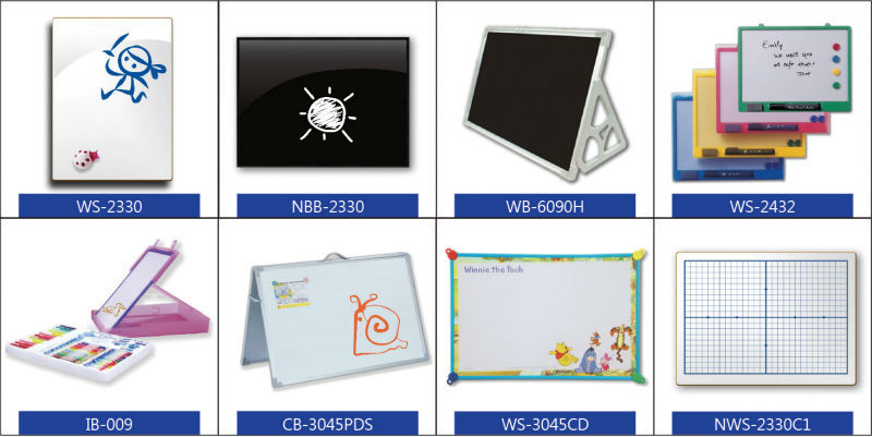 Taiwan children stationery color plastic frame whiteboard