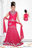 Pink color benaras cloth all over stylish lehenga sizzling Girls Ready Made