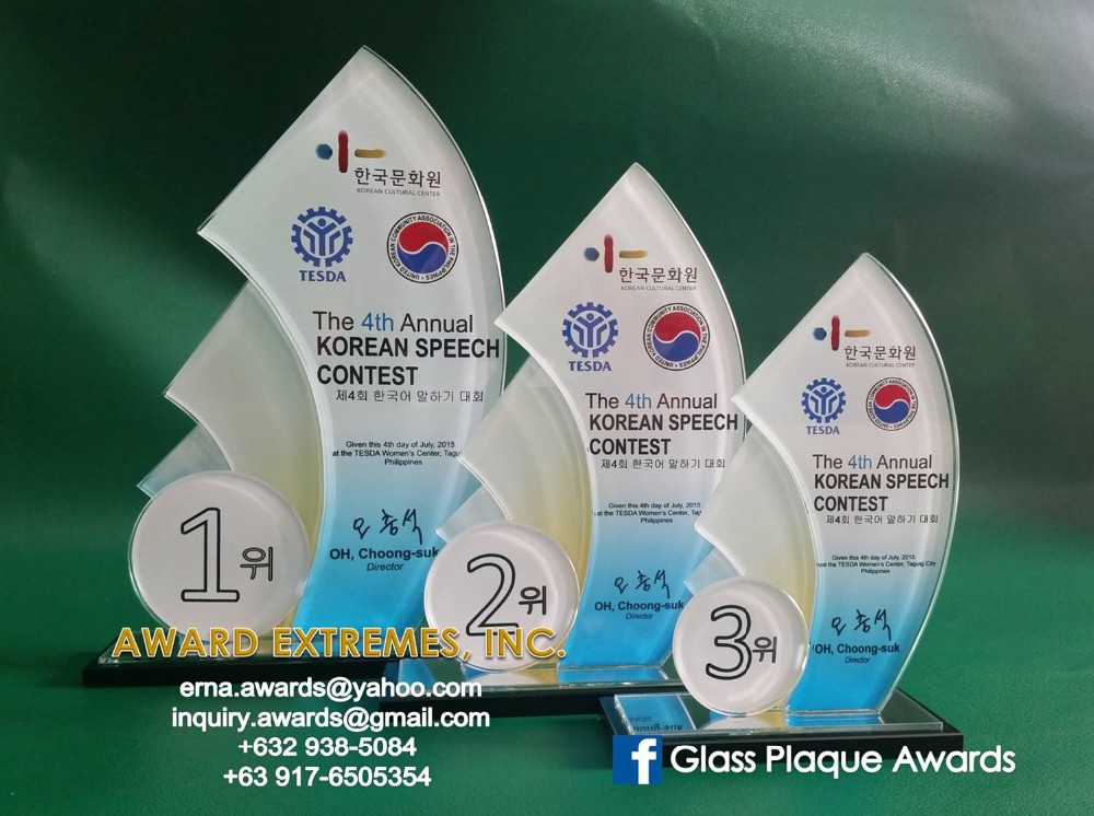glass plaque crystal resin wood trophy awards