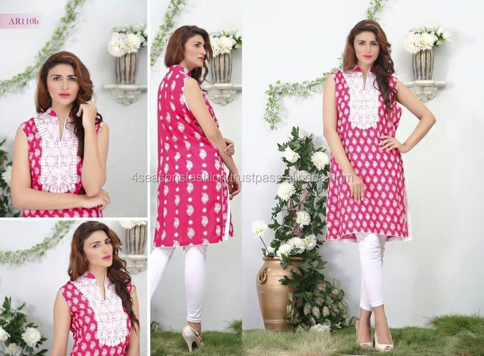 Designer Embroidered Lawn Kurti
