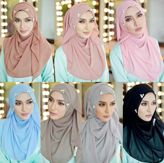 beads dimond hijab