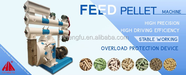 China CE approved high quality automatic animal poultry chicken feed pellet press making machine price