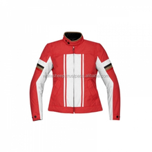 New women Red and White Textile Motorcycle Jacket / textile Cordura jacket for women with CE armor protections