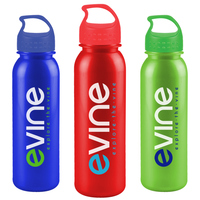 USA Made 24 oz Tritan Metalike Sports Bottle With Crest Lid - metallic colors, BPA/BPS-free and comes with your logo