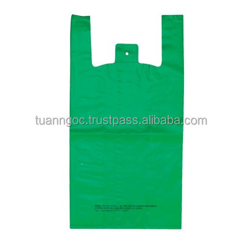 Nylon T-shirt bag used in supermarket, grocery, shopping made of LDPE, HDPE