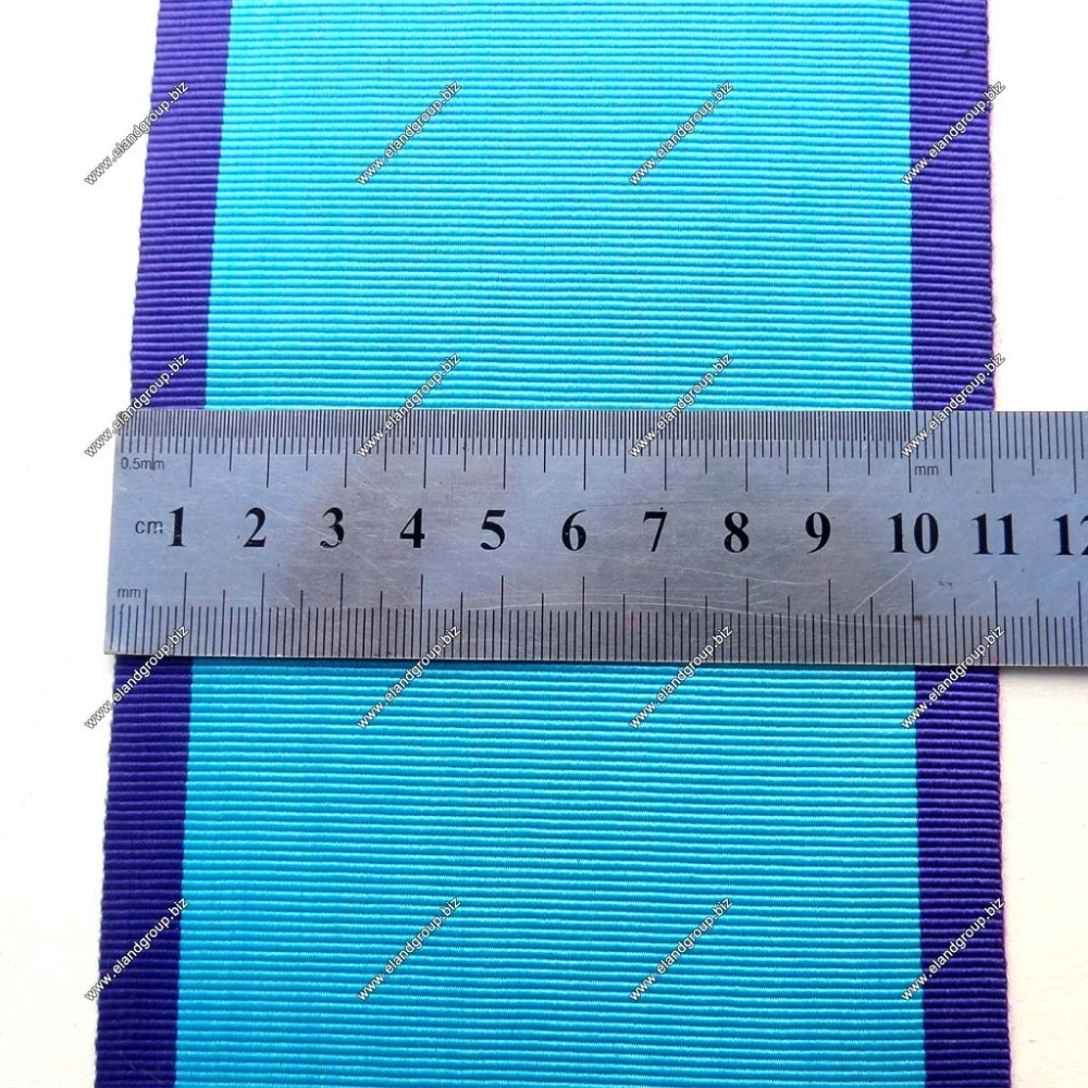 Sky Blue With Purple Edges Moire Ribbon | Tartan Plaid Ribbon | Blue Ribbons