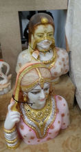 Indian handicraft marble village lady woman statue face