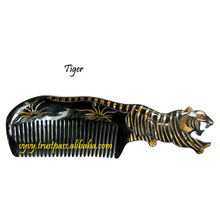 Nice color quality gift Vietnam craft water buffalo horn hair comb VVC-003