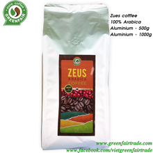 ZEUS Coffee 100% Arabica with Fairtrade certification