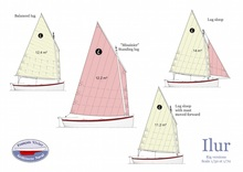 Ilur 4.5 sail and oar boat