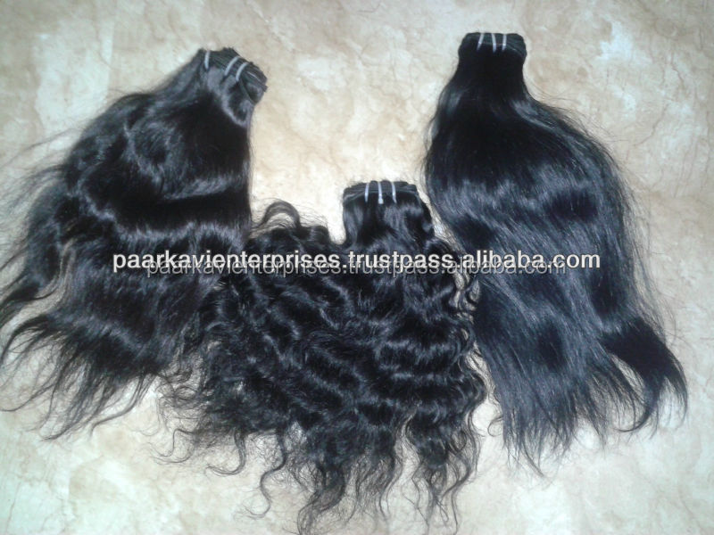Unprocessed top quality hair,100% human hair, factory direct price / Remy machine Weft Hair weaves