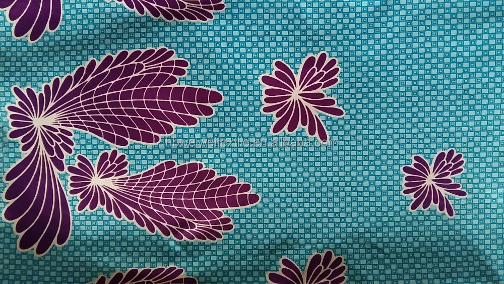 2017 New Design 100% Cotton African Wax Prints Fabric