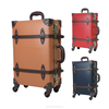 luggage carrier trolley bags travel suitcases 4 wheels PP board cases vintage carry