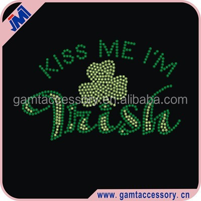 Custom Rhinestone Transfer St.Patrick's Day Irish Shamrock