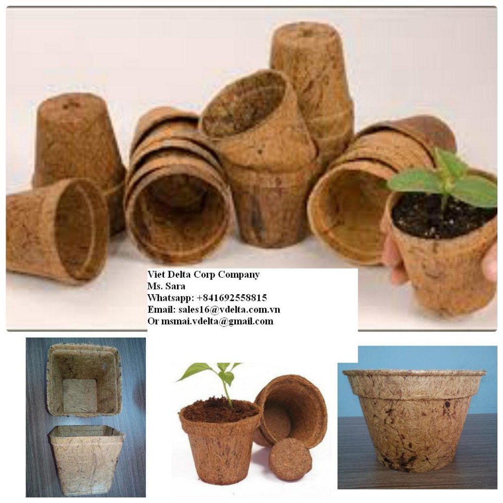 high quality coco fiber pots