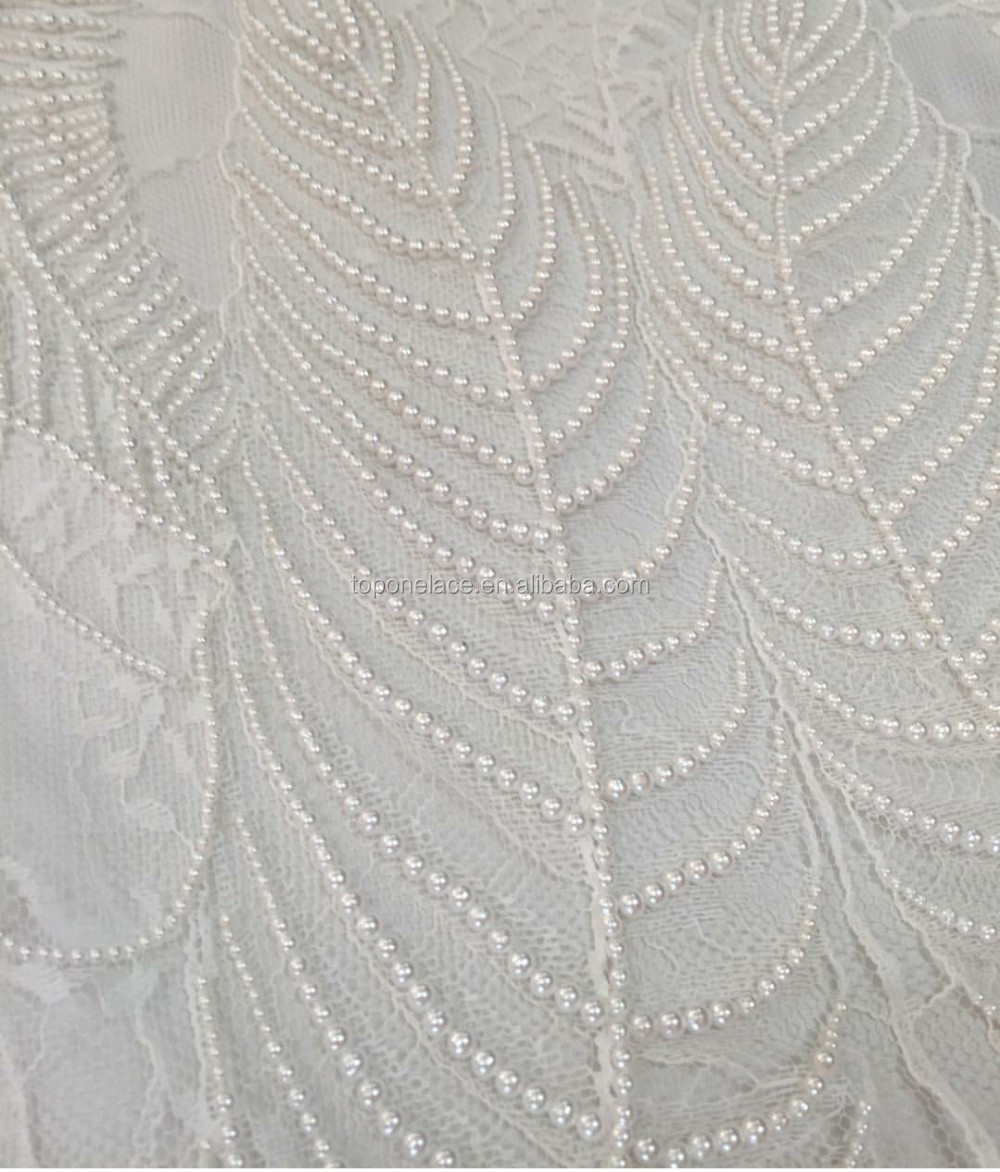 Alibaba French Wholesale Hand Beaded Embroidery Lace
