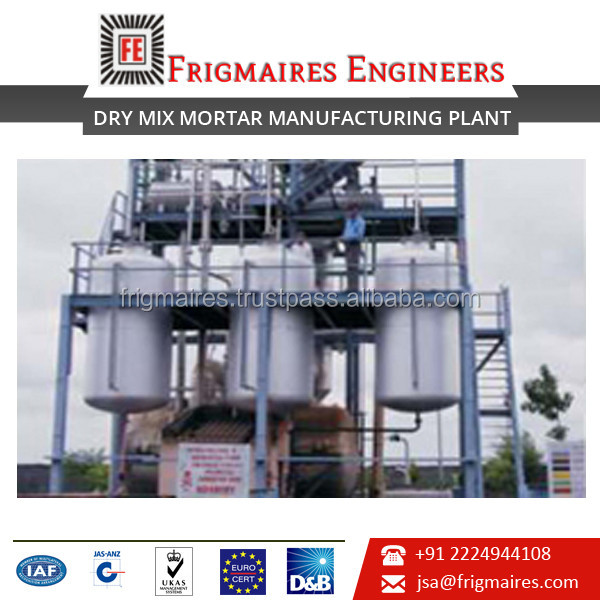 Simple and Effective Dry Mix Mortar Mixing Plant at Leading Rate