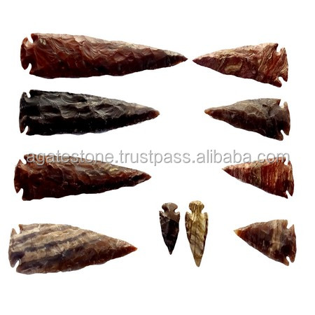 Gemstone Mix Agate Arrowheads : Agate Stone Arrowheads : Gemstone Artifacts