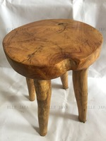 Teak Root Furniture Stool 4 leg round stool 45x30x35cm