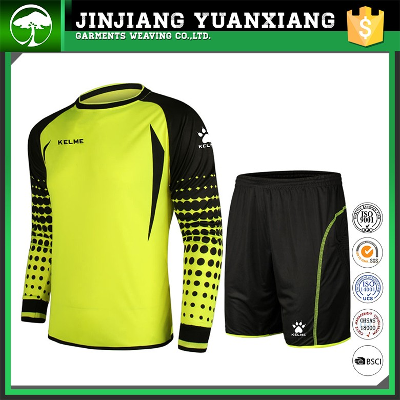 Wholesale goalkeeper jersey for children/goalkeeper training youth goalkeeper jersey soccer