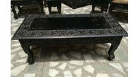Hand Carved Wood Center table/ solid wood hand carved coffee table