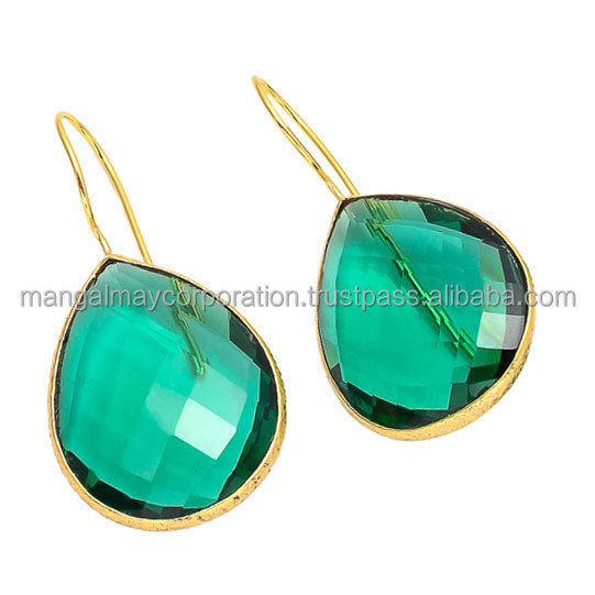 beautiful design 925 sterling silver gold plated light weight earring