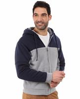mens fashion custom embroidered thin zipper hoodies