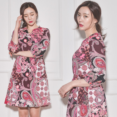 Summer New Fashion Women's stylish Printing dress for ladies