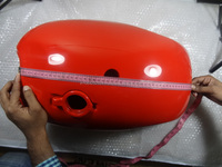 BSA A65 SPITFIRE 4 GALLON RED PAINTED STEEL GAS FUEL PETROL TANK