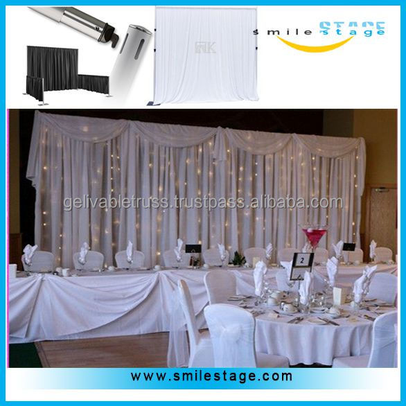 adjustable pipe stand white velour drapes manufacturers