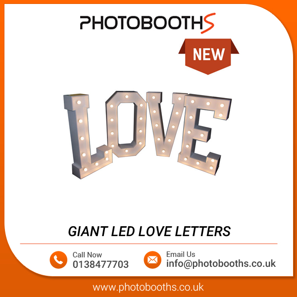 Giant 4 ft Tall LED Love Letters for Sale