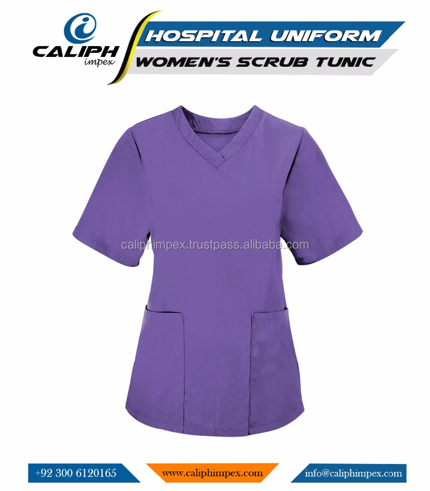 Women's lightweight scrub top for healthcare professionals Short-sleeved medical scrub with V-neck
