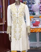 Beautifully Designed V Neck Suits With Heavy Embroidery