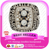 Custom Made Prong Setting stone 1977 Dallas Cowboys Championship ring Electroplated in 24kt Gold