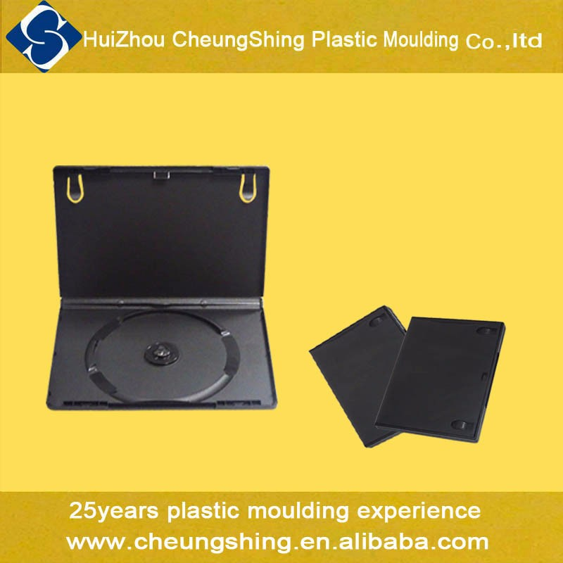 Good quality 14mm plastic black dvd case/dvd box