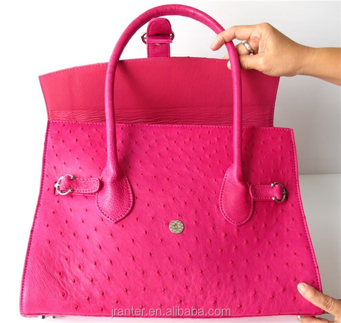 Luxury Exotic leather Tote Bags for Ladies Genuine Ostrich Leather Womens Handbags Wholesale