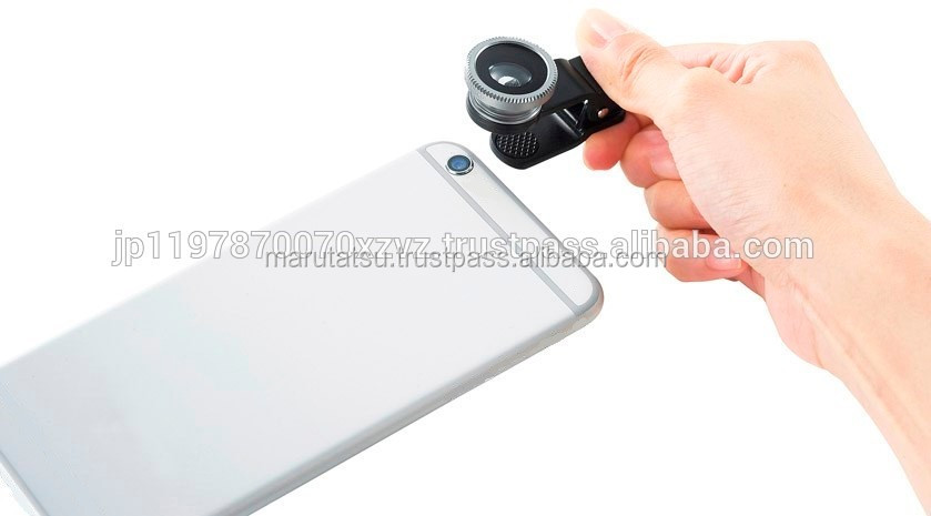 Universal 3 in 1 clip lens accessories for cell phone with lens cover