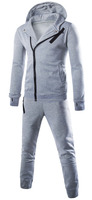 Custom 100% Fleece Hooded Track Suit, Wholsale fashionable Grey tracksuits for man & women