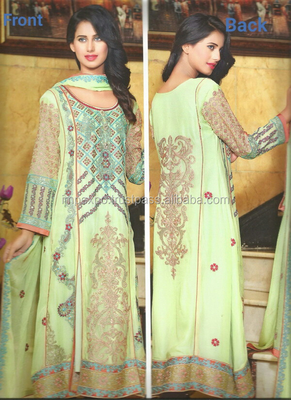 Ladies Designer Partywear / Wedding wear Chifoon Suits