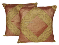 Applique Work Cushion Cover Silk Indian Exporter Cushion Cover